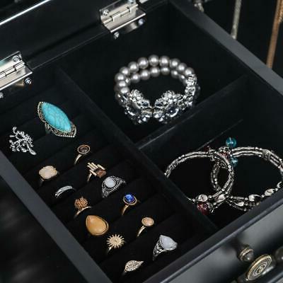 Jewelry Box Armoire Cabinet Standing Organizer Drawer & Top Mirror