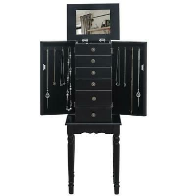 Jewelry Cabinet Standing w/5 Drawer & Top