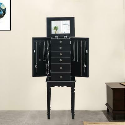 jewelry box armoire storage cabinet standing organizer