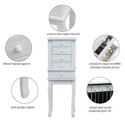 Jewelry Armoire Chest Stand
