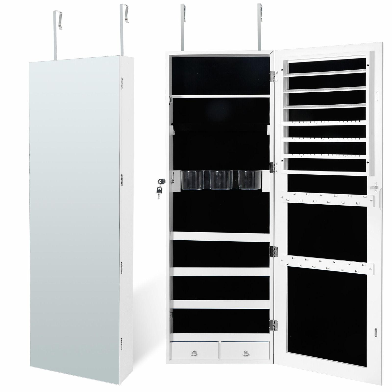 jewelry cabinet organizer armoire wall door mounted