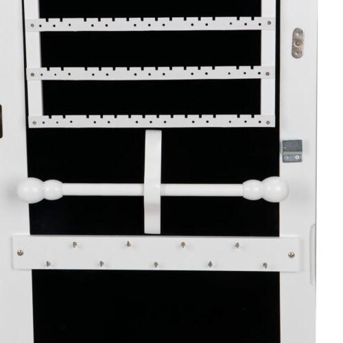Mirrored Jewelry Storage Organizer White