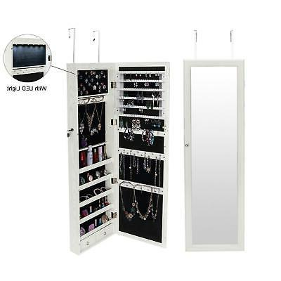 large led wall mount beauty mirror armoire