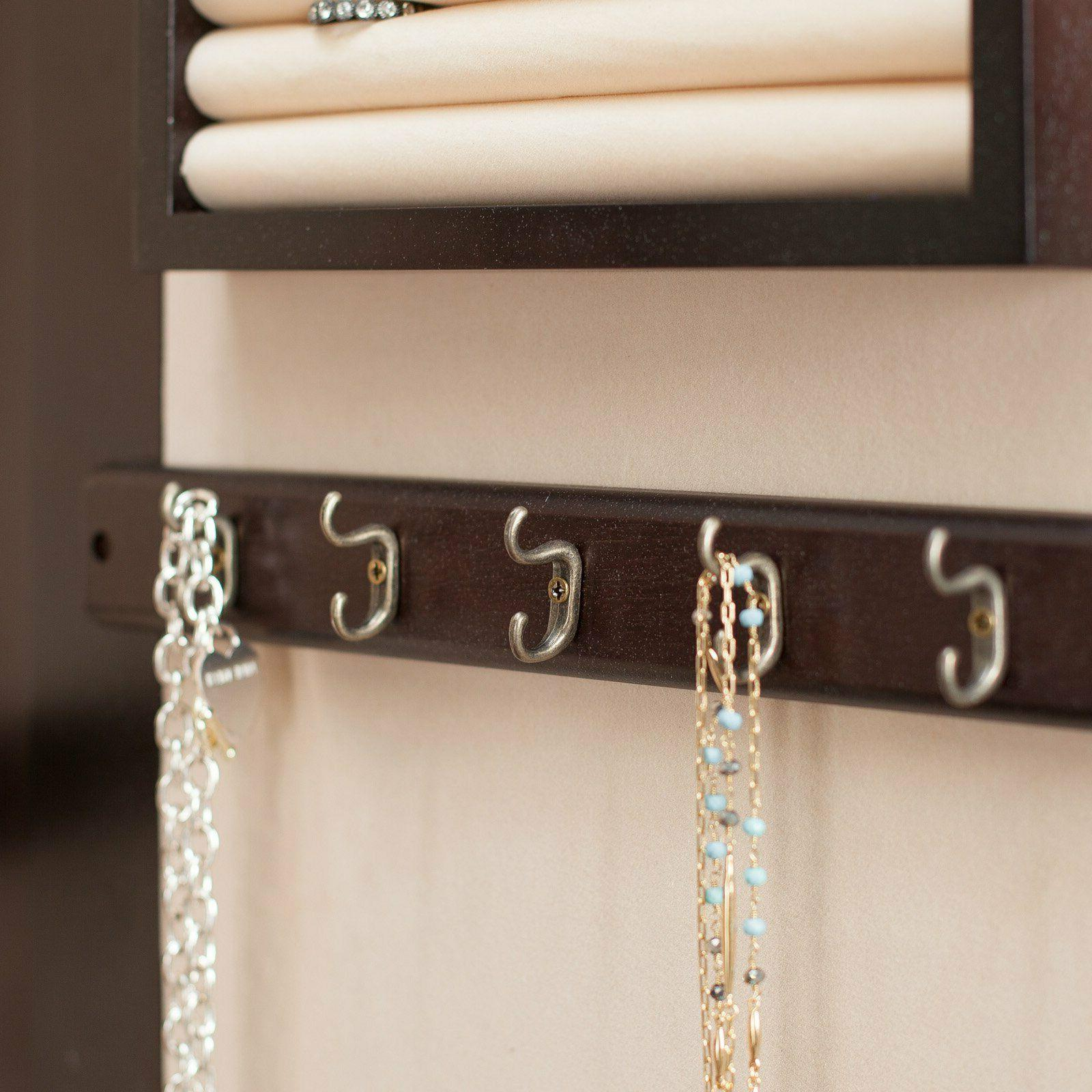 Lighted Mount Jewelry Armoire-