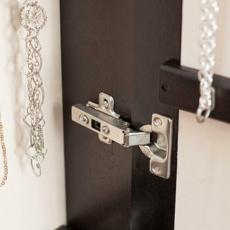 Living Lighted Wall Mount Locking Jewelry