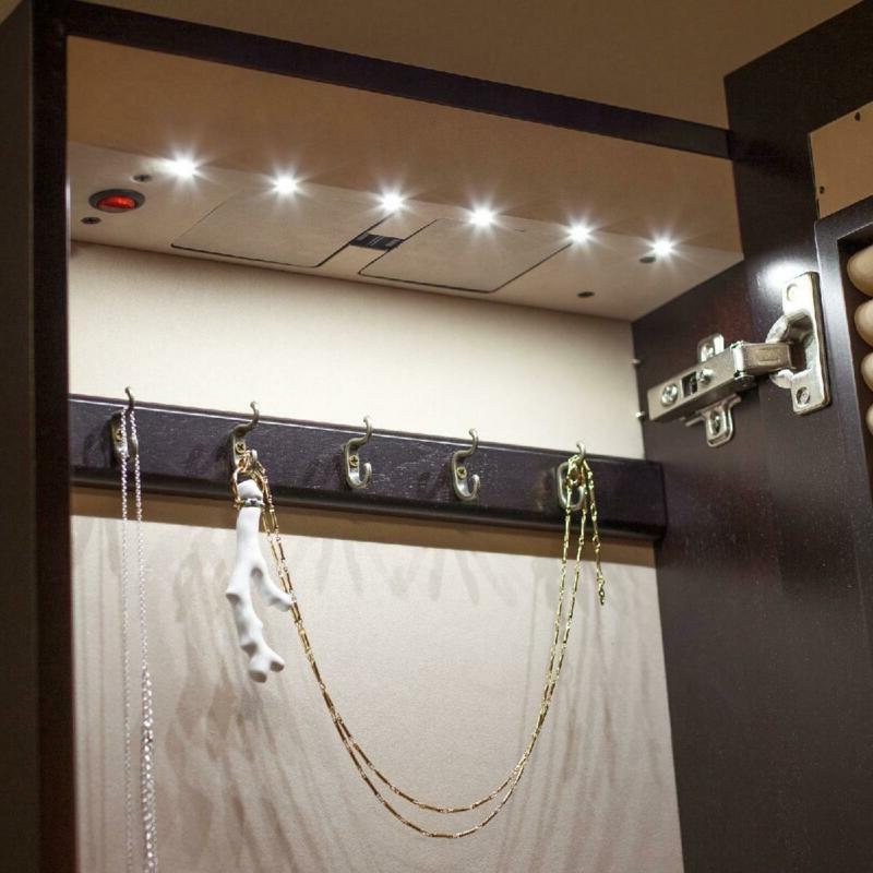 Living Lighted Locking Armoire-