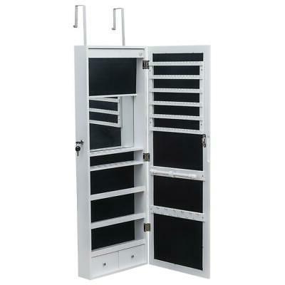 Wall-Mount/Door Jewelry Cabinet Armoire Lockable Storage Org