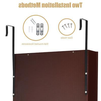 Lockable Armoire Organizer Wall Door Mounted w/LED Lights