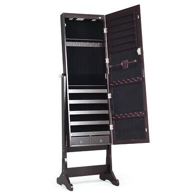 Lockable Mirrored Armoire & LED