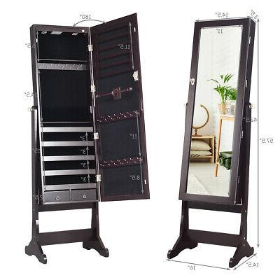 Lockable Cabinet Armoire w/Stand LED