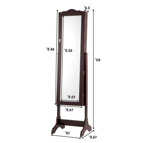 Mirrored Cabinet Armoire Mirror Organizer W/Stand LED Lights