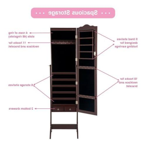 Mirrored Armoire Mirror W/Stand