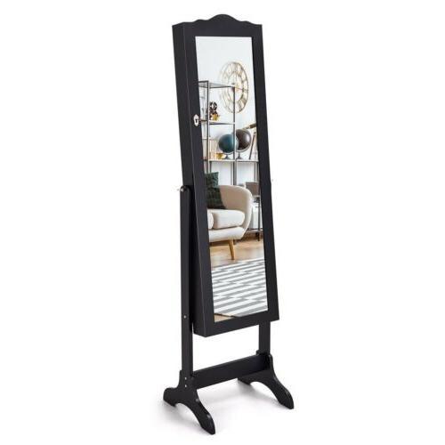 Mirrored Lockable Armoire Box
