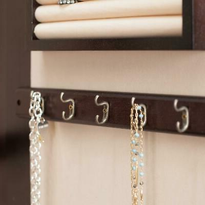 Traditional Lighted Wall Mount Locking Hook Armoire Organizer