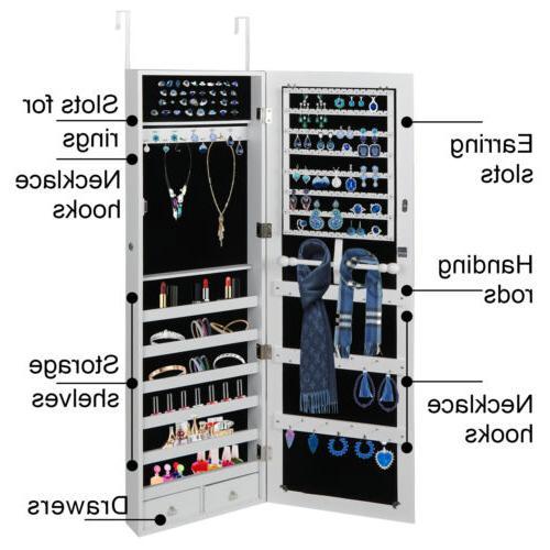 Wall Mounted Jewelry Cabinet Box Organizer