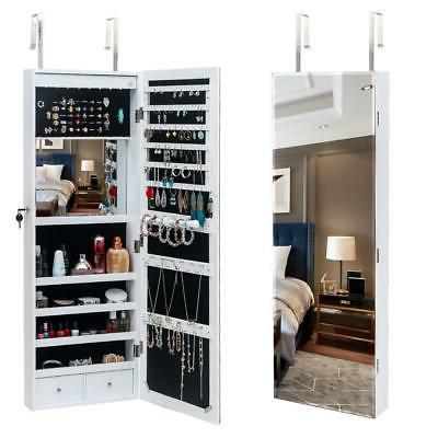 beauty door wall mounted hanging jewelry cabinet