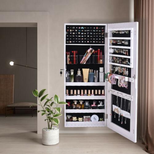 Mirrored Jewelry Cabinet Armoire Mirror Organizer Storage Bo