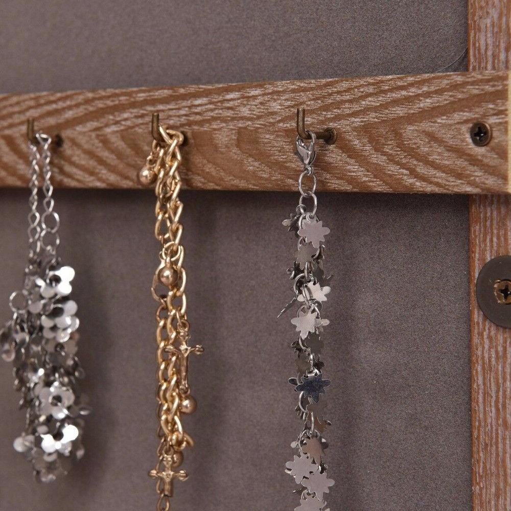 Wall Mounted Wooden Jewelry Organizer Furniture