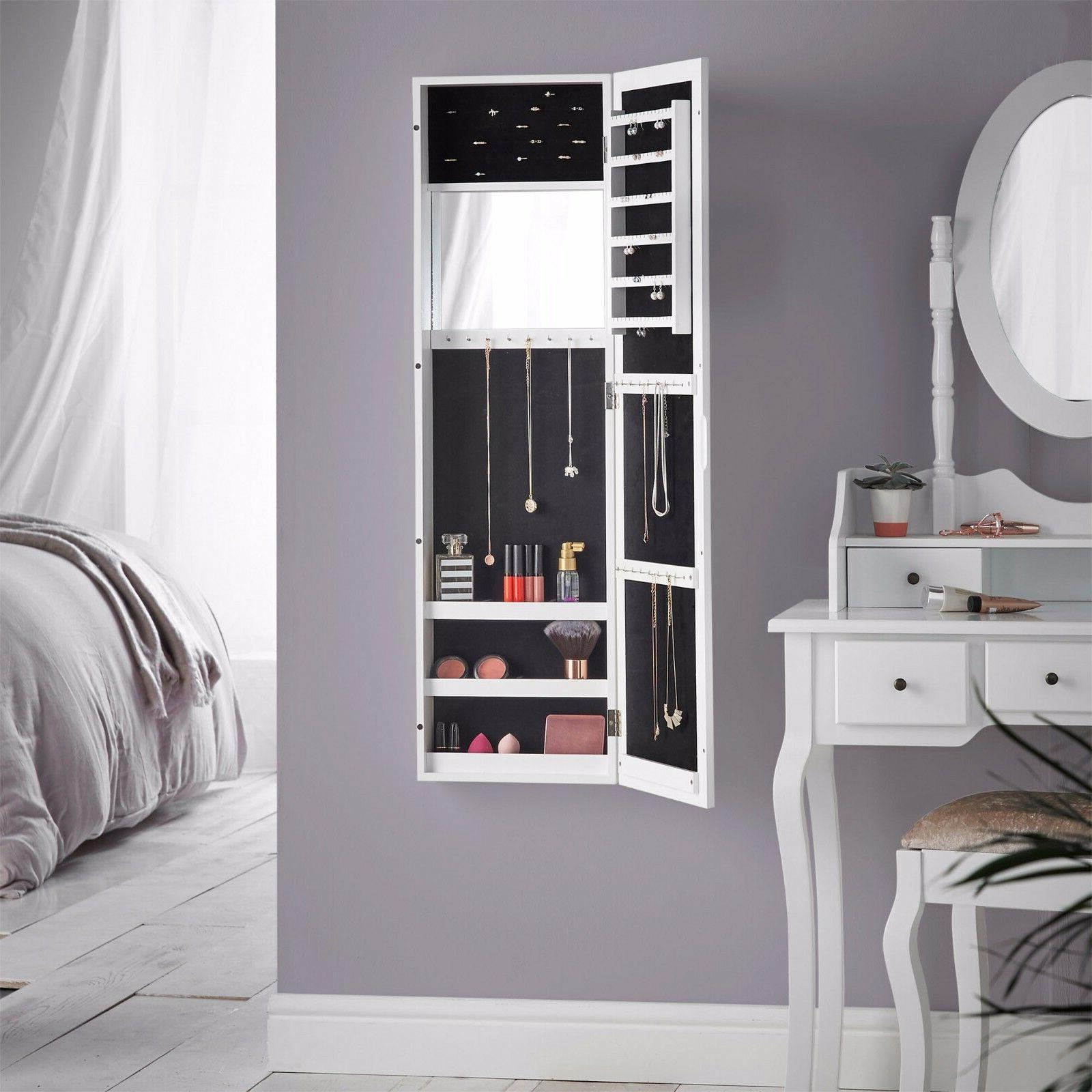 Beautify Jewelry Makeup Armoire Mounted Cabinet