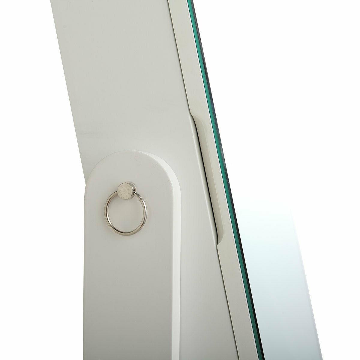White Jewelry Cabinet Box w/ Drawers