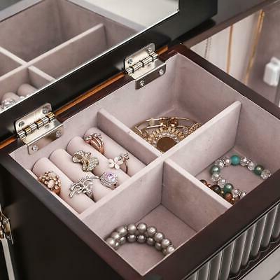 7 Jewelry Cabinet Armoire Box Storage Stand Organizer
