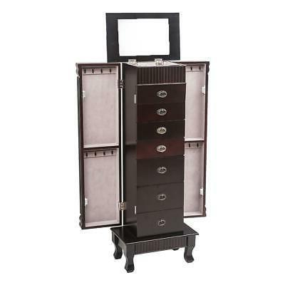 7 Drawer Jewelry Armoire Box Storage Stand Organizer