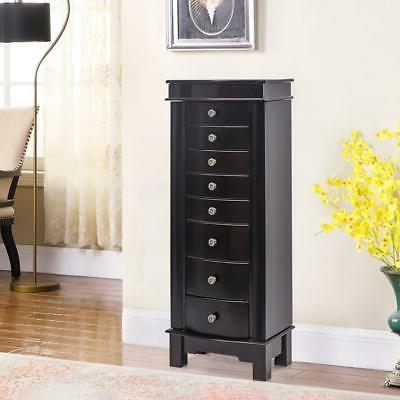 Wooden 8 Drawers Armoire Box Storage Chest Stand