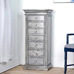 Jewelry Armoire Mirror Storage 7 Drawer Storage Bedroom Furn