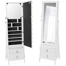 Beautify Lockable Floor Standing Make Up and Jewelry Cabinet