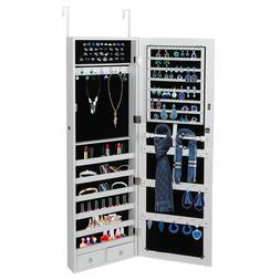 Lockable Jewelry Cabinet Door Wall Hang Mounted Mirrored Org