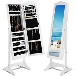 Giantex Jewelry Cabinet Armoire Lockable with Mirror, Classi