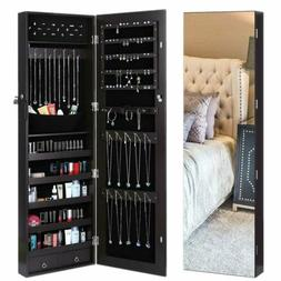 Lockable Mounted Jewelry Cabinet Wall Door Armoire Mirror St