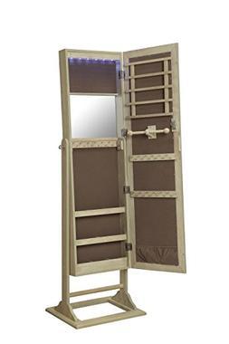 Abington Lane Standing Jewelry Armoire - Lockable Cabinet Or