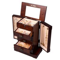New Armoire Jewelry Cabinet Box Storage Chest Stand Organize