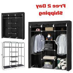 Portable Clothes Closet Wardrobe Bedroom Storage Organizer D