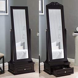 Belham Living Removable Decorative Top Cheval Mirror - Espre