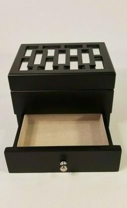 Small Jewelry Box Organizer Armoire Storage Box Top Mirror H