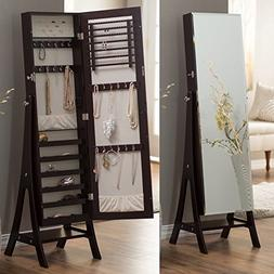 Belham Living Large Standing Mirror Locking Cheval Jewelry A