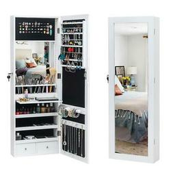 Wall/ Door Mounted Jewelry Cabinet Armoire Box Organizer w/