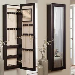 Wall Mounted Multi Purpose Jewelry Armoire Mirror with 14.5W