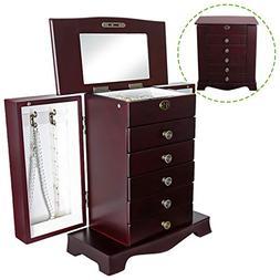 Flex HQ Wooden Jewelry Treasure Amorie Cabinet Chest Storage